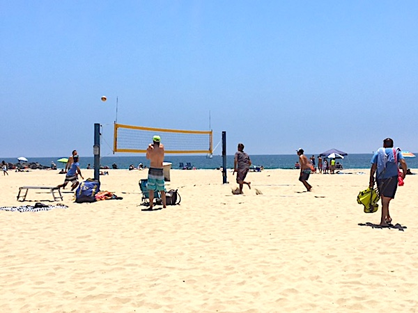 Setting for a Volleyball Return on the Beach in LA